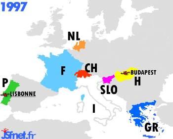 Jeux sans frontières 1997 : les pays participants