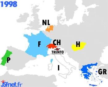 Jeux sans frontières 1998 : les pays participants