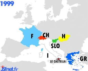 1999 : les pays participants