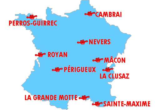 Les villes françaises de l'édition 1998