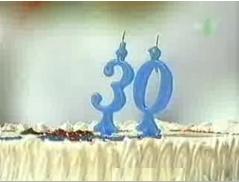 Le gâteau d'anniversaire des 30 ans