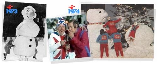 Les Jeux de Noël en 1973 à Cortina d'Ampezzo et en 1974 à Aviemore