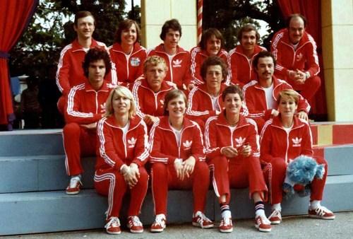 """L'équipe représentant Carouge (Suise) aux """"Jeux sans frontières"""" 1977"""