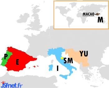 """""""Jeux sans frontières"""" 1990 à Macao : les pays participants"""