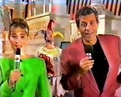 """Daniela Lumbroso et Georges Beller à Madrid (""""Jeux sans frontières"""" 1991)"""